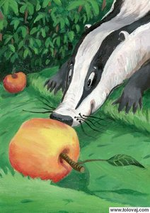 jazbec in jabolko