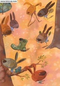 zajcki se zabavajo